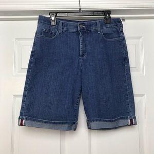 NYDJ   Rolled Cuff Denim Bermuda Shorts